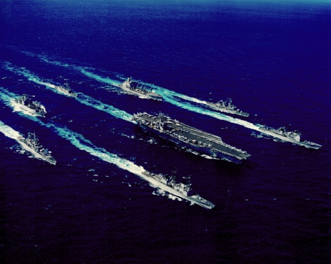 USS Eisenhower Battlegroup 01