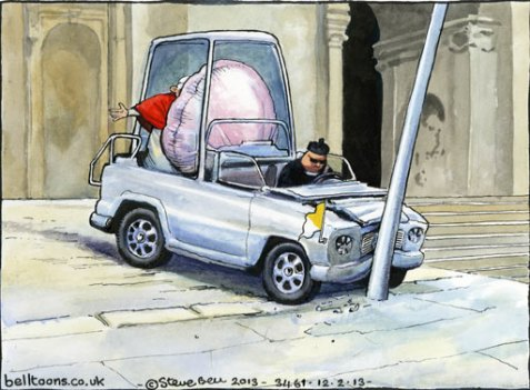 12.02.13: Steve Bell on the Pope's resignation