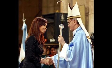 Bergoglio-con-presidente-Argentina