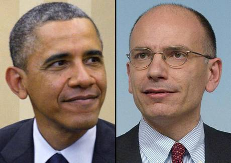 Barack Obama ed Enrico Letta