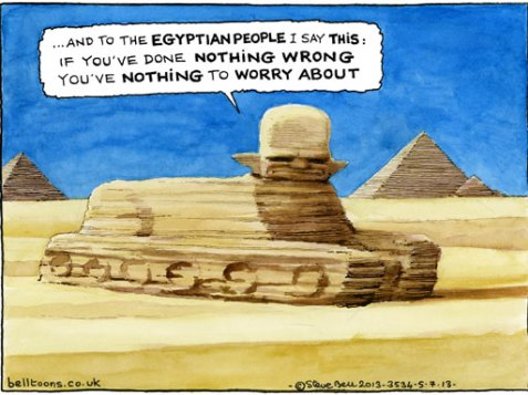 Steve Bell cartoon 5.7.2013