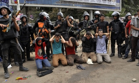 Egyptian security forces clear protest camps loyal to ousted President Mohamed Morsi, Cairo, Egypt - 14 Aug 2013