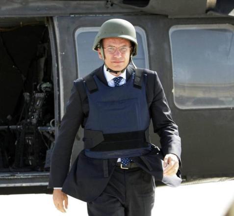 Italian Premier Enrico Letta in Kabul ++ rpt ++