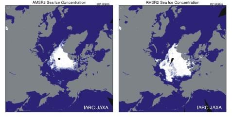 AMSR-E SeaIceComparison