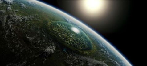 602430_Artists-concept-of-a-giant-domed-city-in-an-asteroid-crater-on-a-hypothetical-planet