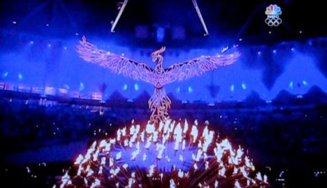 simbolo delle fenice durante la cerimonia di inaugurazione dei giochi olimpici londinesi
