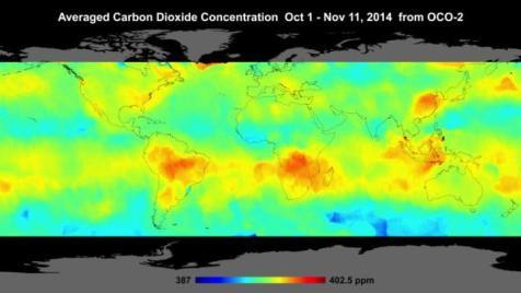 Rilevazioni del satellite di osservazione della CO2 della NASA confermano quelle del satellite giapponese JAXA: le foreste pluviali e gli oceani producono gran parte delle emissioni di CO2 mentre i grandi distretti industriali extra-cinesi non generano emissioni significative