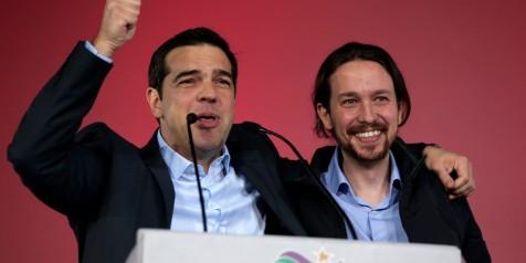Alexis Tsipras (Syriza) & Pablo  Iglesias (Podemos)