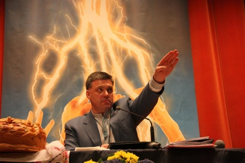 Oleh Tyahnybok, leader della destra ucraina
