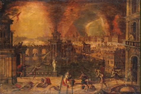 The fall of Troy by Kerstiaen De Keuninck