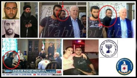 Il senatore neoconservatore John McCain, già sfidante di Obama, in compagnia del califfo ISIS Abu Bakr al-Baghdadi, 2013